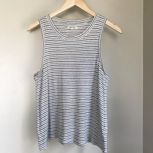 Madewell Circuit Clare stripe ribbed tank top